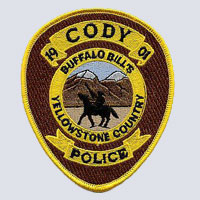 Cody, WY Police Department Patch